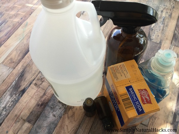 ingredients for natural bathroom cleaner