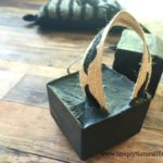charcoal detox soap on a rope