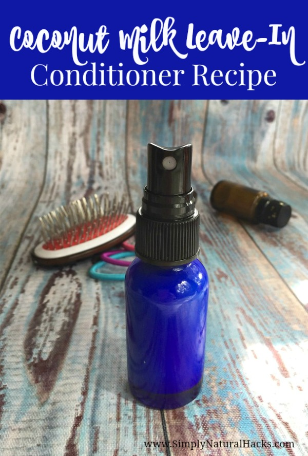 You can treat dry damaged hair naturally with this Coconut Milk Leave-In Conditioner Recipe. Made simply with coconut milk, jojoba, and essential oils.