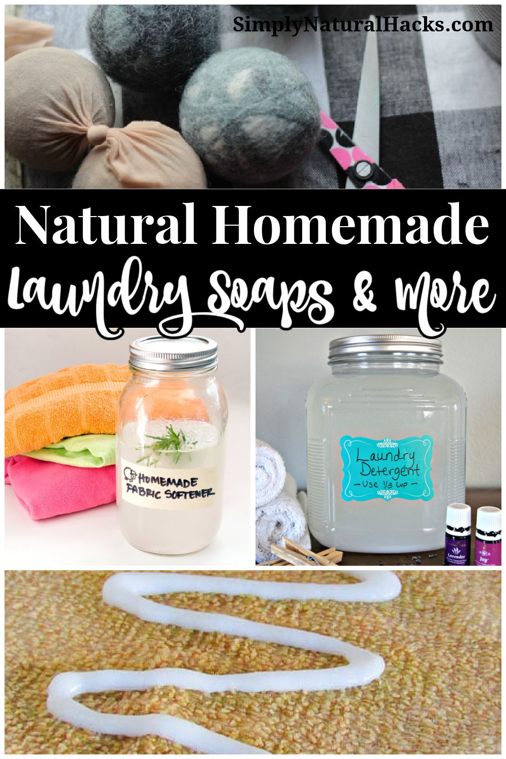 a collection of natural homemade laundry products